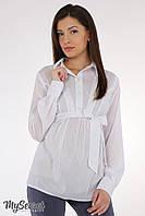 Легкая блуза для беременных Bridgit р. 44-50 ТМ Юла Мама Белый BL-15.021