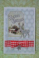 """Новогодняя открытка """"Merry christmas"""" (ручная робота)"""