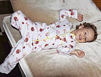 Детская фланелевая ( байковая ) пижама для мальчиков и девочек