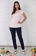 Летние брюки для беременных Dakota р. 44-50 ТМ Юла Мама Темно-синий TR-26.021