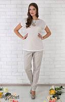 Летние брюки для беременных Dakota р. 44-50 ТМ Юла Мама Серо-бежевый TR-26.023