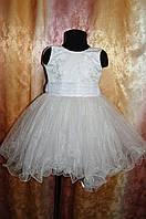 Белое Праздничное Платье для девочки  3-5 лет, фото 1