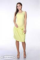 Летняя юбка из льна Teilor р. 44-50 ТМ Юла Мама Желто-зеленый S15-3.1.2