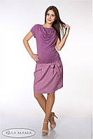 Летняя юбка из льна Teilor р. 44-48 ТМ Юла Мама Розово-сиреневый S15-3.1.1