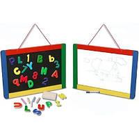 Магнитная доска/Доска для рисования настенная MD145 (магниты, мел, маркер, 30х40 см) Melissa & Doug