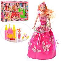 Кукла с платьем, дочка, замок, велосипед, 2 цвета