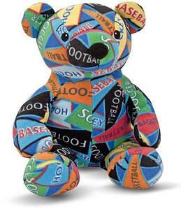 Ведмідь-спортсмен, колекція Beeposh. Melіssa & Doug (MD 7275). М'яка іграшка ведмедик.