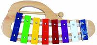 Металлофон 8 тонов. Деревянная музыкальная игрушка ТМ Bino, 86557