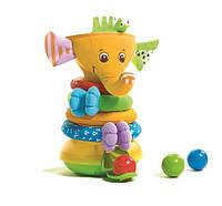 """Музыкальная развивающая игрушка пирамидка """"Радужный Слоник"""" для детей с 6 месяцев ТМ Tiny Love 1502106830"""