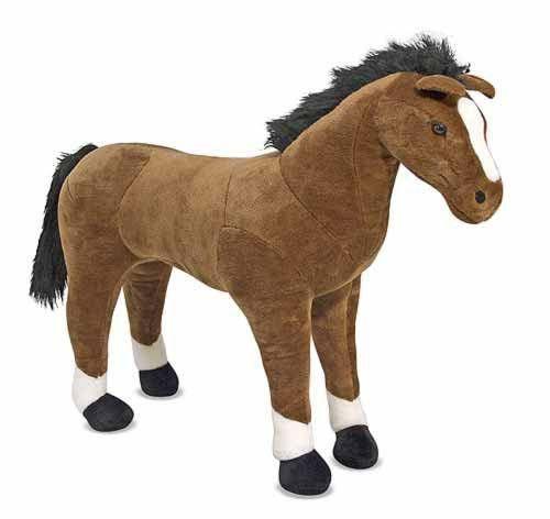 Мягкая игрушка - Гигантская плюшевая лошадь 1 м (Horse - Plush) ТМ Melissa & Doug MD12105