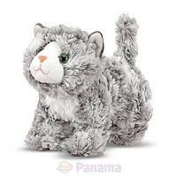 Мягкая игрушка мраморный котенок Рокси, 18 см (Roxie Grey Tabby) ТМ Melissa & Doug MD7541