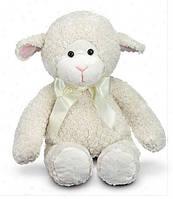 Мягкая игрушка ягненок Ангелочек (Lovey Lamb) ТМ Melissa & Doug белый MD7693