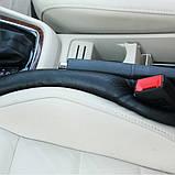 Подушка уплотнитель вставка между сидениями с логотипом 2 шт, фото 2