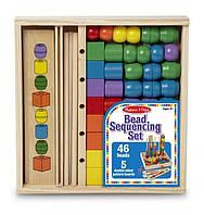 """Набор деревянных бусин Bead Sequencing Set (""""Последовательность и соответствие"""") ТМ Melissa & Doug MD570"""
