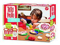 """Набор для лепки Tutti-Frutti """"Все для Пиццерии"""" (3 баночки пластилина по 128г, тарелочки) ТМ BOJEUX BJTT14801"""