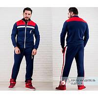 Мужской спортивный костюм Polo красные вставки на плечах и полосы на штанах