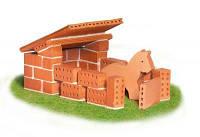 Набор для строительства Конюшня. Эко-конструктор из глиняных кирпичиков Teifoc