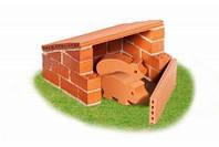 Набор для строительства Свиноферма. Эко-конструктор из глиняных кирпичиков Teifoc