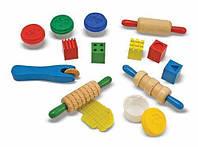 "Набор для творчества ""Лепите, творите, играйте"" MD10165 Melissa & Doug (тесто для лепки, формочки, скалки)"