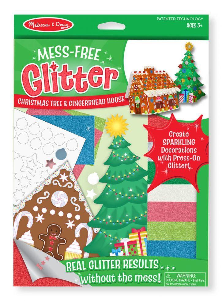 """Набор для творчества Объемные блестящие наклейки """"Рождественская елка и пряничный домик"""" Melissa & Doug MD8404"""