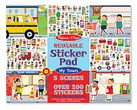 "Набор многоразовых наклеек ""Мой город"" (Reusable Sticker Pad - My Town) ТМ Melissa & Doug MD19114"