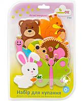Набор фигурок на присосках для игры в ванной Fixi Лесные животные ТМ KinderenOK