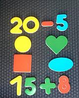 """Набор цифр и фигур на магнитах ТМ """"Руди"""" Д305у (40 деталей)"""