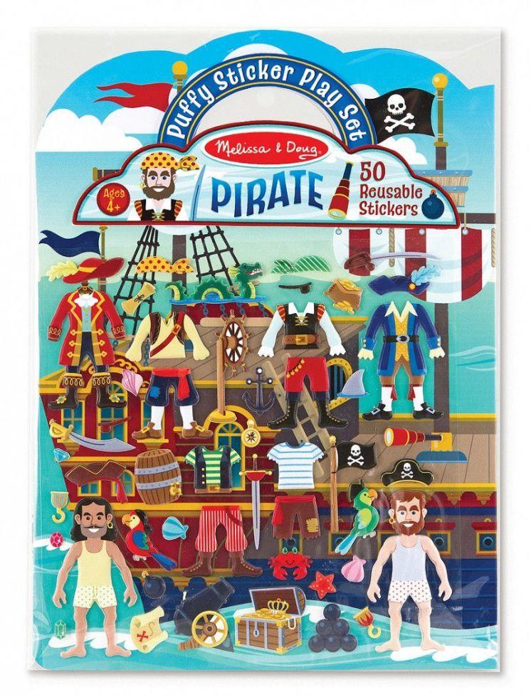 """Об'ємні багаторазові наклейки """"Пірати"""" (Puffy Sticker Play Set ― Pirate) ТМ Melіssa & Doug MD9102"""