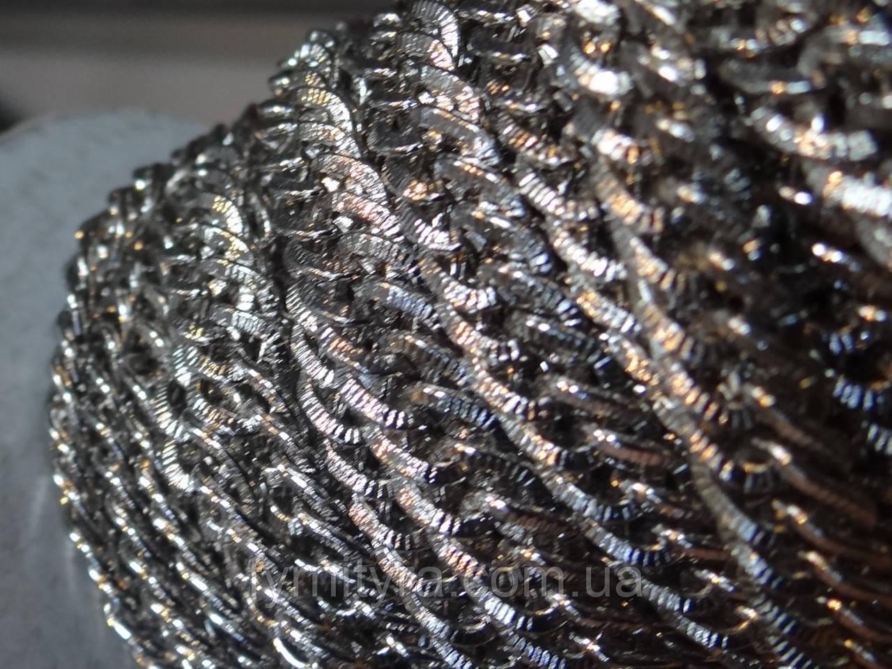 Цепь декоративная NF 2 1016 под серебро 7мм х 9мм