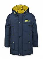 Детская зимняя куртка на подростка, синяя, р.140
