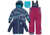 Осенне-зимний костюм 3в1 для мальчика 2-7 лет (2 куртки, полукомбинезон, манишка) ТМ Deux par Deux J 312-764
