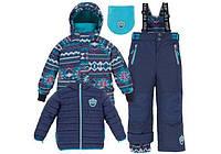 Осенне-зимний костюм 3в1 для мальчика 2-14 лет (2 куртки, полукомбинезон, манишка) ТМ Deux par Deux J 312-499