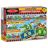 "Пазл-коврик в коробке Паровозик ""Алфавит"" 3 м (Alphabet Express Floor Puzzle) 27 эл. ТМ Melissa & Doug MD14420"