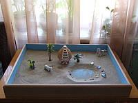 Песочница детская деревянная домашняя для песочной терапии