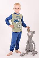 Пижама детская для мальчика 2-7 лет из хлопка р. 92-122, ТМ Модный карапуз 03-00540-1