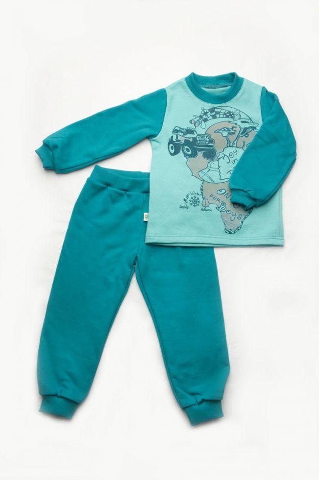 10b5d5ac4fa82 Пижама детская утепленная для мальчика из футера р. 92-122 ТМ Модный  карапуз (