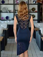 Праздничное женское ассиметричное платье