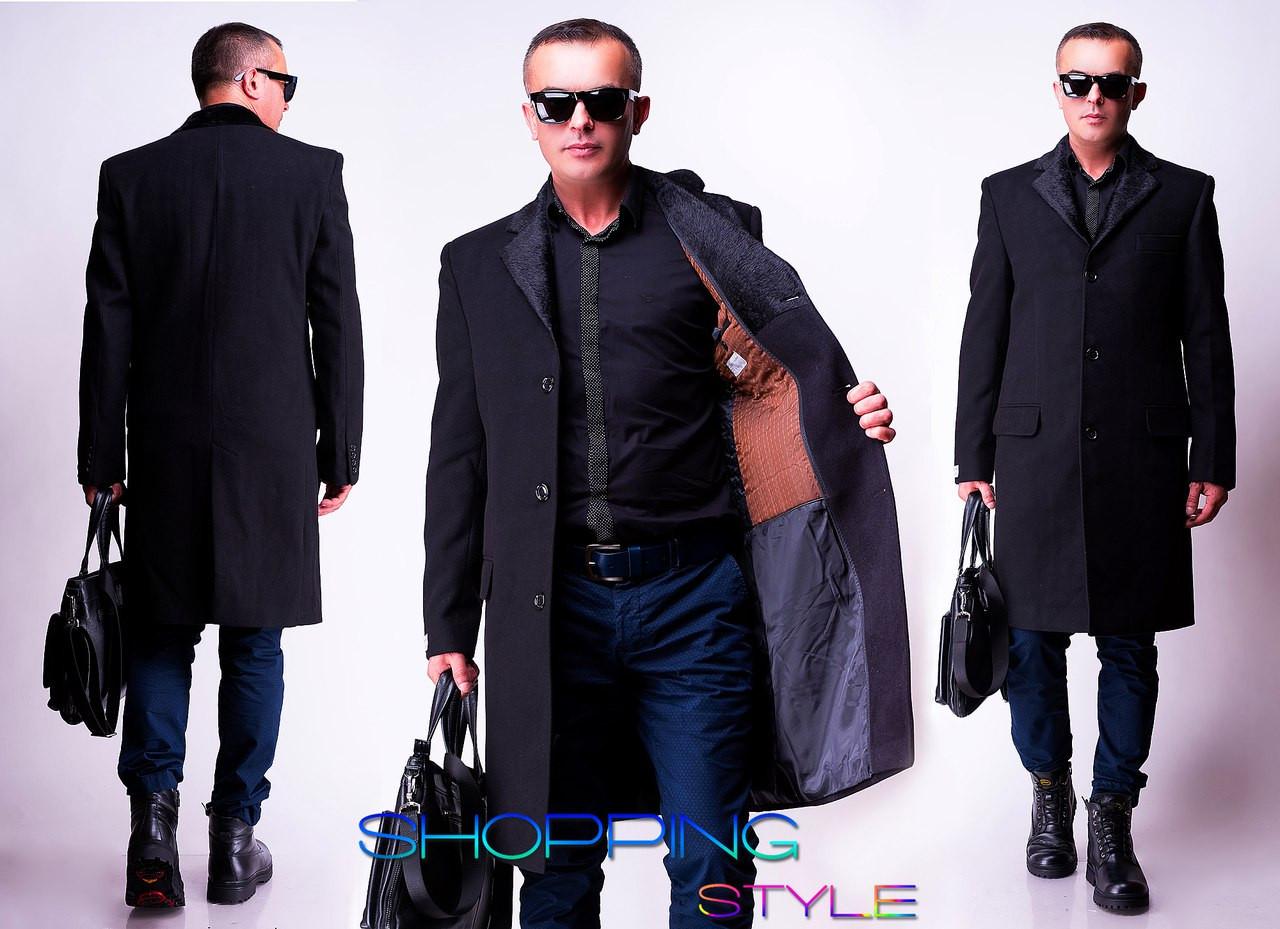 Стильное мужское зимнее пальто с кашемира с 44 по 56 размер - Стильный бум  в Киеве 78efc0c3b5124