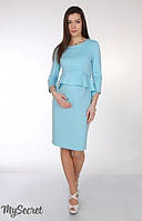 Платье для беременных и кормления Catherine р. 44-50 ТМ Юла Мама Аквамарин DR-25.163