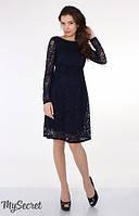 Платье для беременных и кормления Jennifer р. 44 ТМ Юла Мама темно-синий DR-25.041