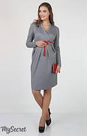 Платье для беременных и кормления Messalina р. 44-50 ТМ Юла Мама Серый DR-36.092
