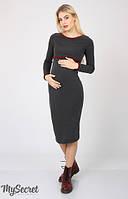 Платье для беременных и кормления Una теплое р. 44-50 ТМ Юла Мама Антрацит DR-46.271