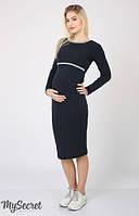 Платье для беременных и кормления Una теплое р. 44-50 ТМ Юла Мама Синий DR-46.272