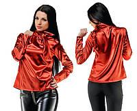 "Элегантная женская нарядная блузка ""Атлас Бант"" в расцветках (103 -5149 )"
