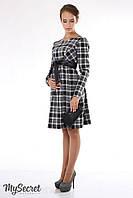Платье для беременных и кормящих р. 44 Barbara ТМ Юла Мама Черно-белая клетка DR-15.091