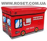 Пуфик-ящик для игрушек нappy bus, фото 6