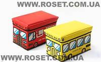 Пуфик-ящик для игрушек нappy bus