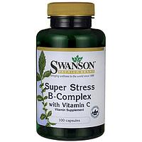 Супер Стресс Комплекс - Витамины B Комплекс, 100 капсул