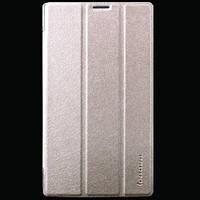 Кожаный чехол-книжка TTX Elegant для Lenovo Tab 2 A7-30 (Золотой)