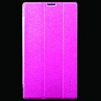 Кожаный чехол-книжка TTX Elegant для Lenovo Tab 2 A7-30 (Малиновый)